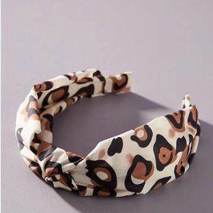 Anthropologie Cheetah-Printed Knot Headband